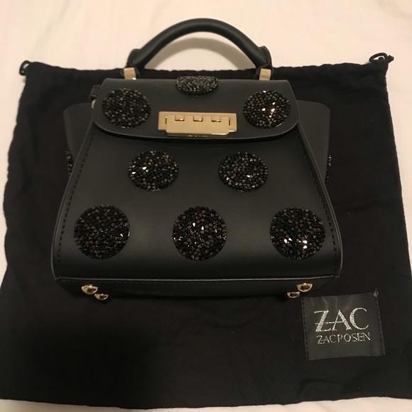 Zac Zac Posen Swarovski Black Eartha Iconic Mini
